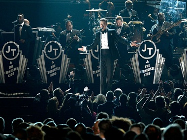 Justin Timberlake performing. Image courtesy: Twitter