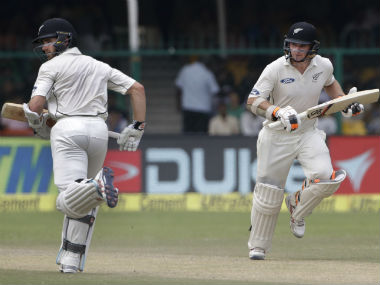 Kane Williamson and Tom Latham put up an unbroken stand of 117 for the second wicket. AP