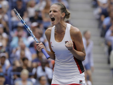 Karolina Pliskova in action during the US Open women's singles final. AP