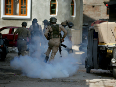 File image of the protest in Kashmir. Reuters