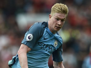 Kevin de Bruyne starred for Manchester City in their 2-1 win over Manchester United at Old Trafford. AFP