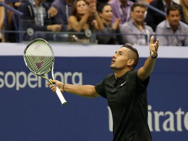 Nick Kyrgios in action at the US Open. Reuters