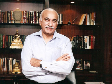 A file image of MJ Akbar. Facebook