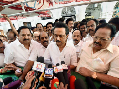 DMK's MK Stalin detained. PTI