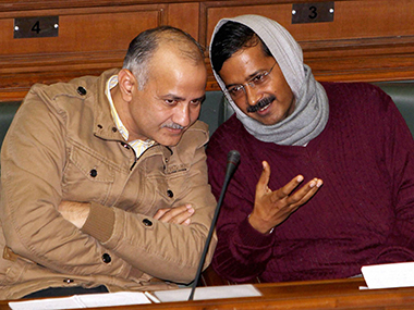 File image of Manish Sisodia and Arvind Kejriwal. PTI