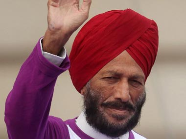 File photo of Milkha Singh. AFP
