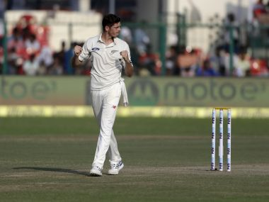New Zealand's Mitchell Santner. AP