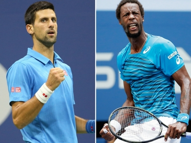 Novak Djokovic vs Gael Monfils in the first semi-final.