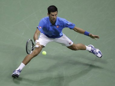 Novak Djokovic in action at the US Open. AP