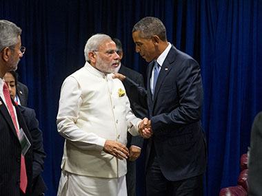 File image of US President Barack Obama and Prime Minister Narendra Modi. AP