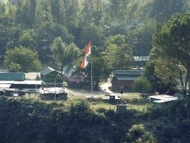 The Army Brigade camp which was attacked by militants in Uri, Jammu and Kashmir. PTI