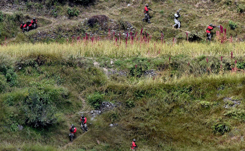As part of the ongoing 'Yudh Abhyas 2016' exercise, the Indian and US troops on Thursday participated in joint training operations in the mountainous terrain of Uttarakhand, a defence official said. PTI