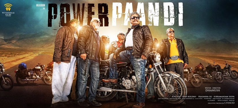 Poster of Dhanush's 'Power Pandi' starring Raj Kiran