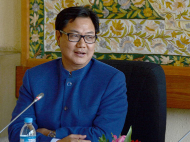 A file photo of Kiren Rijiju. PTI
