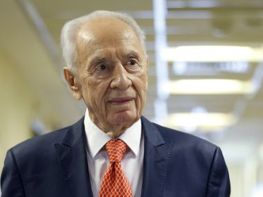 File photo of former Israeli President Shimon Peres. Reuters