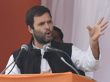 "Rahul Gandhi accuses PM Modi of ""globe trotting"". PTI"