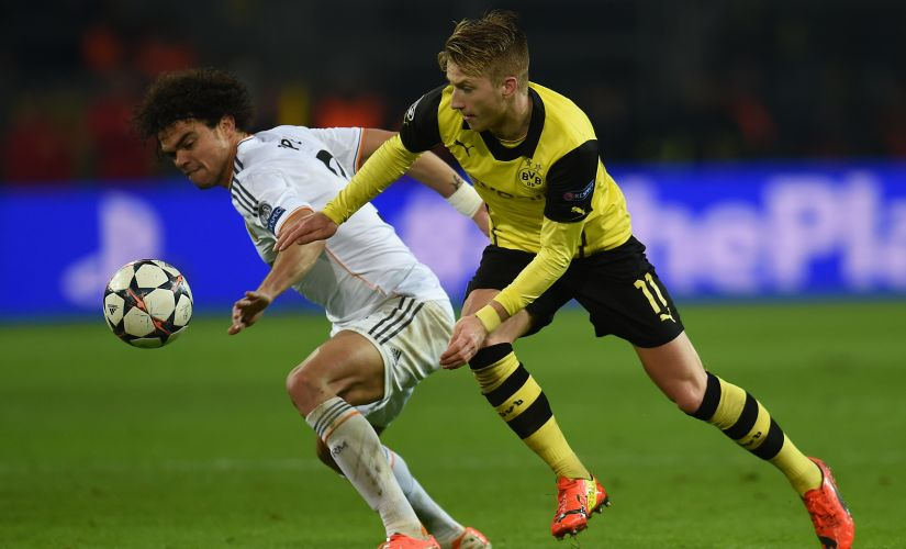 Real Madrid and Borussia Dortmund will renew their Champions League rivalry hwn the two sides meet in the group stages on Tuesday. AFP