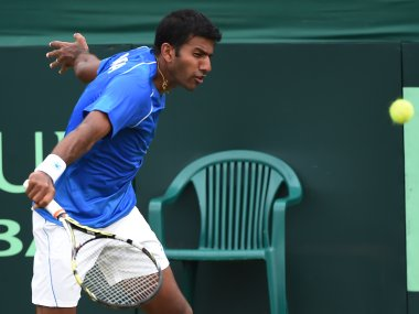 Rohan Bopanna in the Davis Cup. AFP