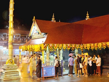 Sabarimala shrine in Kerala. Image courtesy ayyappaseva.org