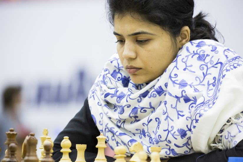 WGM Soumya Swaminathan the best performer for the women team at the fourth board, scoring 8 points and the only player who played all 11 games. Image Credit: Maria Emelianova/Firstpost