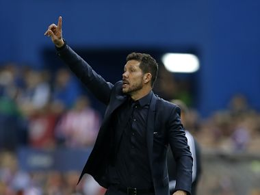 Atletico coach Diego Simeone gives directions to his players during the Champions League clash against Bayern. AP