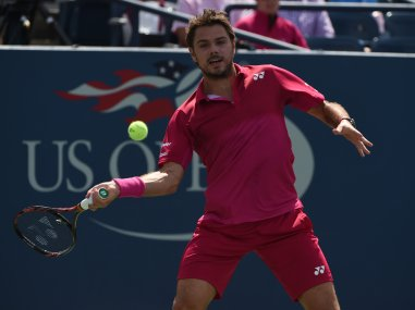 Stan Wawrinka in action against Illya Marchenko. AFP