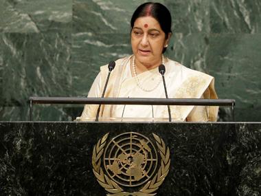 File photo of Sushma Swaraj. PTI