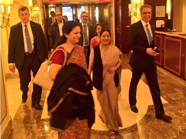 The state is set for Sushma Swaraj at UNGA