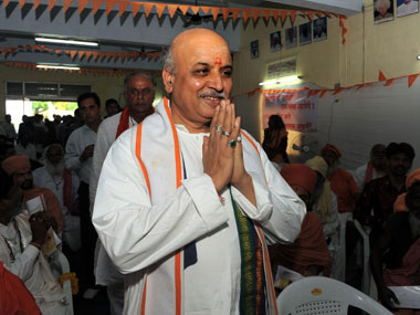 VHP chief Togadia. AFP