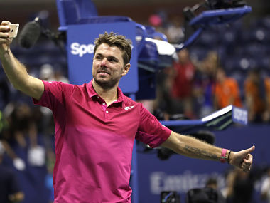 Stan Wawrinka takes a selfie after beating Novak Djokovic to win the men's singles final of the US Open. AP
