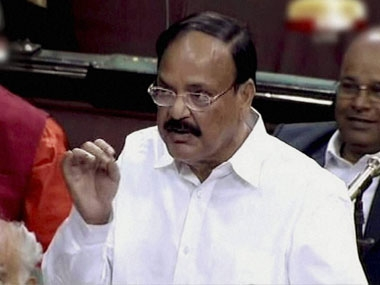 File photo of Venkaiah Naidu. News18
