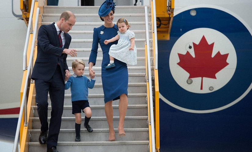 Victoria : Britain's Prince William and his wife Kate, the Duke and Duchess of Cambridge, along with their children Prince George and Princess Charlotte arrive in Victoria, British Columbia, Saturday, Sept. 24, 2016. AP/PTI(AP9_25_2016_000025B)