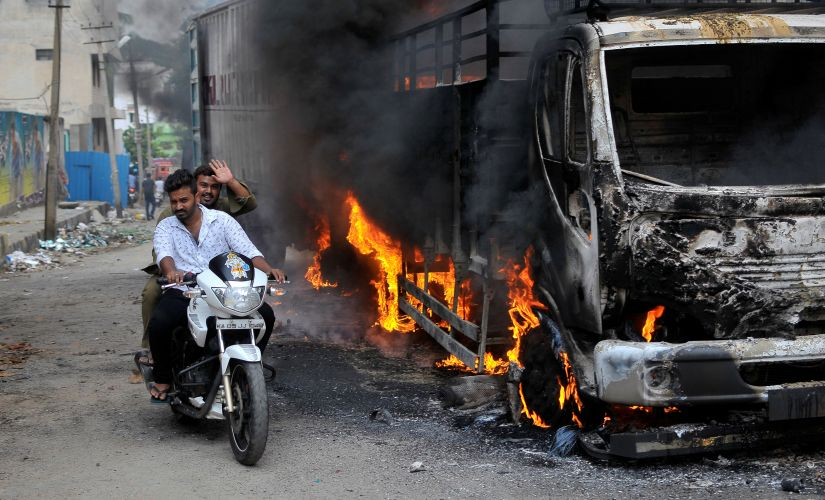 It was a sombre Eid for Bangaloreans as well. 40 buses were torched by protesters in the city on Monday. Reuters