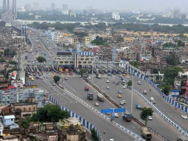 On a usual day, Vidyasagar Setu in Kolkata is packed and active but on Friday with the trade union strike on, commuters revelled a traffic-free ride. PTI