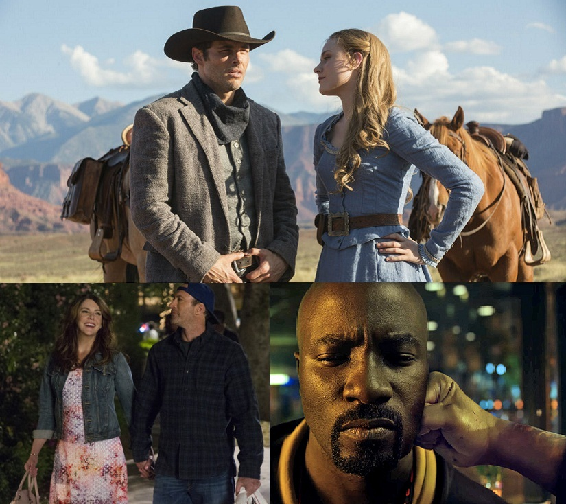 (Clockwise from top) 'Westworld'; Marvel's 'Luke Cage'; 'Gilmore Girls: A Day In The Life'