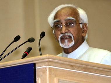 File photo of Hamid Ansari
