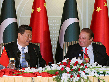 A file photo of Nawaz Sharif and Xi Jinping. PTI