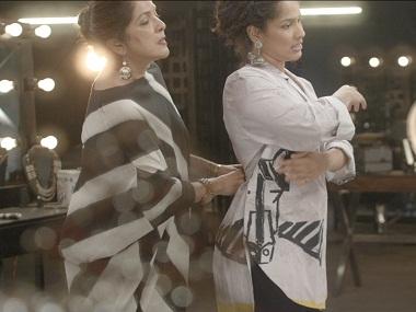 Masaba and Neena Gupta in the video. Screengrab from YouTube