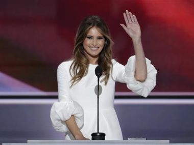 A file photo of Melania Trump. AP