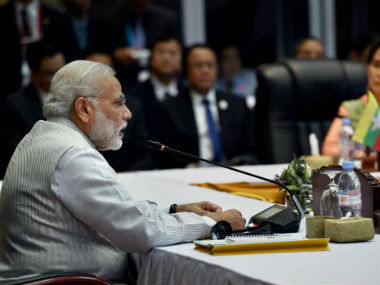 PM Modi at East Asia Summit. PTI