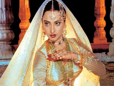 Rekha in 'Umrao Jaan'. The actress' penchant for playing courtesans perhaps began with the role of Zohrabai in 'Muqaddar ka Sikandar'