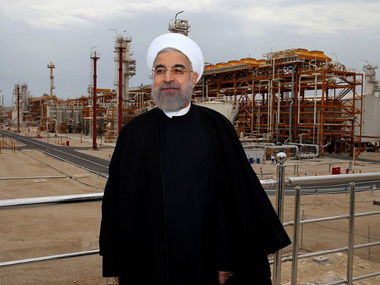 A file photo of Rouhani. AFP