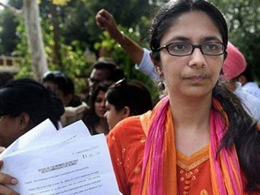 File photo of DCW chief Swati Maliwal. PTI