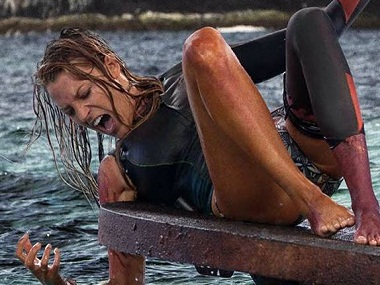 Blake Lively battles a great white shark in Jaume Collet-Serra's 'The Shallows'