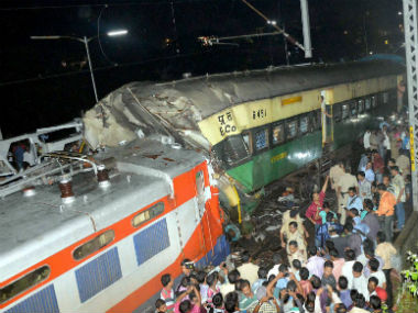 A passenger and a goods train collide at Cuttack. PTI