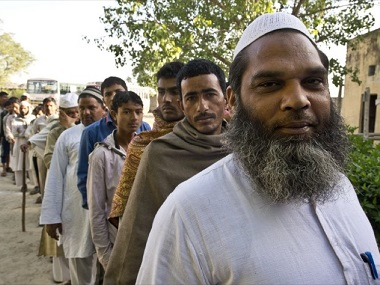 The newly-formed Ittehad Front of the Muslim political parties in Uttar Pradesh is garnering votes on the basis of religion. AFP