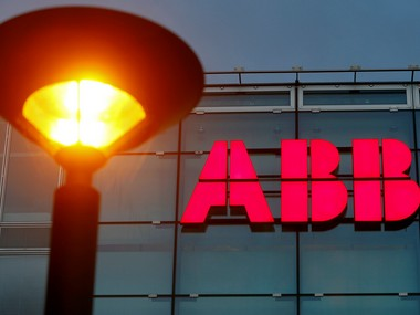 Logo of Swiss engineering group ABB. Reuters.