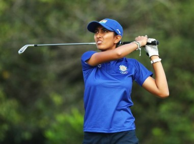 File photo of Aditi Ashok of India. Getty