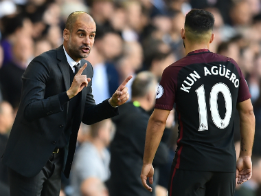 Sergio Aguero is enjoying his free role under Guardiola. AFP