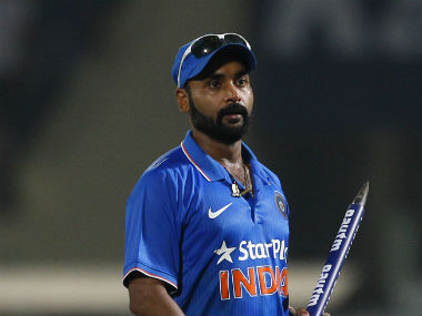 Amit Mishra recorded figures of 5/18 in the final ODI at Vizag. AP